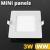 Mini négyzet LED panel (85x85 mm) 3 Watt meleg fehér