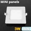 Mini négyzet LED panel (85x85 mm) 3 Watt term. fehér