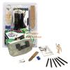 Mini rajzkészlet - fabábu modellel, kulcstartóval és kifesthető vászontáskával
