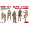 MiniArt Britische Panzer Crew in Winteruniform figura makett MiniArt 35121