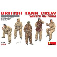 MiniArt Britische Panzer Crew in Winteruniform figura makett MiniArt 35121 makett figura