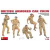 MiniArt BRITISH ARMORED CAR CREW figura makett Miniart 35069