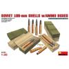MiniArt SOVIET 100-mm SHELLS w/AMMO BOXES makett MiniArt 35088