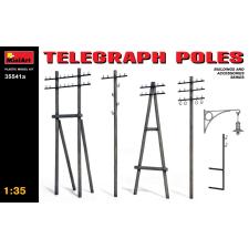 MiniArt Telegraph Poles dioráma kiegészítő makett Miniart 35541a makett figura