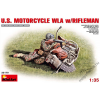 MiniArt - U.S.Motorcycle WLA with Rifleman