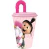 Minions Szívószálas pohár Minions, Agnes & Fluffy Unicorn