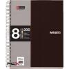 """MIQUELRIUS Spirálfüzet, A4, kockás, 200 lap, MIQUELRIUS """"Note Book 8"""", fekete"""