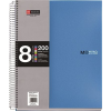 "MIQUELRIUS Spirálfüzet, A5, vonalas, 200 lap,  ""Note book 8"", kék"