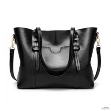 Miss Lulu London E1856-MISS LULU divatbőr válltáska táska fekete