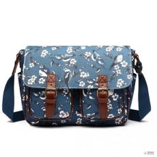 Miss Lulu London L1107-16J - Miss Lulu Oilcloth táska Bird Print sötét kék