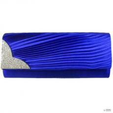 Miss Lulu London L1113 - Miss Lulu Ruched gyémánt estélyi Táska Clutch táska király kék