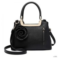 Miss Lulu London LG1847-MISS LULUbőr rózsa HANGING ORnévNT kézi táska fekete