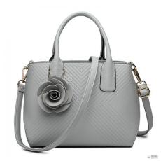 Miss Lulu London LG1849-MISS LULUbőr rózsa ORnévNT TWILL kézi táska szürke
