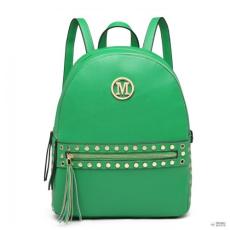 Miss Lulu London LH6807-MISS LULU stílusosbőr pötty dekorációS hátizsák táska zöld