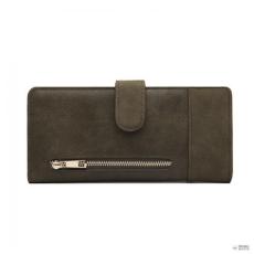 8330eeaf0c Miss Lulu London LN6883-MISS LULUbőr POPPER kivitel hosszú pénztárca zöld