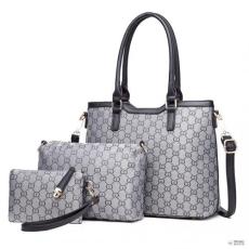 Miss Lulu London LT1749 GY - Miss Lulu három darab bevásárló táska válltáska táska és Táska Clutch szürke