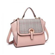 6a302d1ce169 Miss Lulu London LT1906 - Miss Lulu Plaid Croc Skin kézi táska - rózsaszín