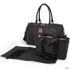 Miss Lulu London LT6638 - Miss Lulu matternity Changing válltáska táska fekete kézitáska és bőrönd