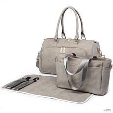 Miss Lulu London LT6638 - Miss Lulu matternity Changing válltáska táska világos szürke