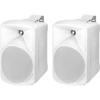Monacor PAB-58/WS kétutas hangfal (pár), fehér