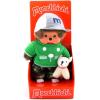 Monchhichi - fiú figura sportos ruhában kutyával - 20 cm