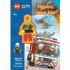 Móra Kiadó LEGO City - Vigyázz, kész, tűz! - ajándék minifigurával