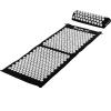 MOVIT akupresszúrás matrac 130 x 50 cm, párnával - fekete
