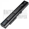 MSI Medion Akoya E6201 Series 4400 mAh 6 cella fekete notebook/laptop akku/akkumulátor utángyártott