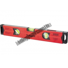 MTX alumínium vízmérték mágneses, 400mm, 2+1 libella tükrös barkácsolás, csiszolás, rögzítés