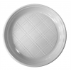 Műanyag lapos tányér, 21,5 cm