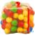 Műanyag Műanyag 100 darabos labda zárható hálóban