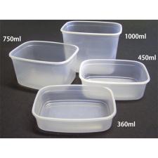 """Műanyag tál, lezárható, 1000 ml """"Svéd"""" tányér és evőeszköz"""