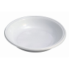 . Műanyag tányér, mély, mikrózható, 21 cm átmérő, fehér