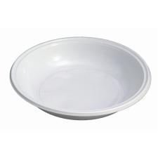 . Műanyag tányér, mély, mikrózható, 21 cm átmérő, fehér konyhai eszköz