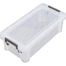 Műanyag tárolódoboz, átlátszó, 1,3 liter, papírárú, csomagoló és tárolóeszköz
