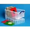 Műanyag tárolódoboz, kislemezek tárolására, 9 liter, REALLY USEFUL (CSDRU9CXL)