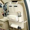 Műbőr autós rendszerező üléstámlára sok zsebbel - beige Műbőr autós rendszerező üléstámlára sok zsebbel - beige