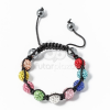 Multicolor shamballa karkötő fekete jwr-1557