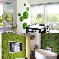 Műmoha zöld fa és növény