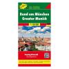 München és környéke / Rund um München térkép TOP 10 / freytag & berndt