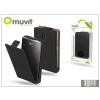 Muvit LG E430 Optimus L3 II flipes tok képernyővédő fóliával - Muvit Slim - black
