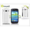 Muvit Samsung i8260 Galaxy Core hátlap - Muvit miniGel Glazy - white