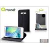 Muvit Samsung SM-A300F Galaxy A3 flipes tok kártyatartóval - Muvit Wallet Folio - black