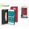 Muvit Samsung SM-G920 Galaxy S6 flipes tok kártyatartóval - Muvit Wallet Folio - pink