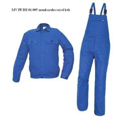 MV royal kék FF BE-01-005 SET kertésznadrágos öltöny 46-64