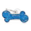 My family biléta - Glitteres kék Csont S (GL01SMALLB)