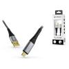MyScreen Protector USB töltő- és adatkábel 1,2 m-es vezetékkel - MyScreen Protector Kevlar USB Type-C - 5V/3A - black/grey