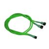 Nanoxia 3-Pin - Y-kábel - 60 cm - neon zöld
