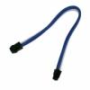 Nanoxia 4-Pin P4 hosszabító 30 cm - Kék/Fehér