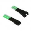 Nanoxia 4-Pin PWM hosszabbító - 30 cm, zöld / fehér